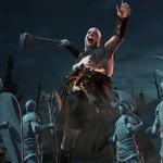 Гигант сражается со статуями